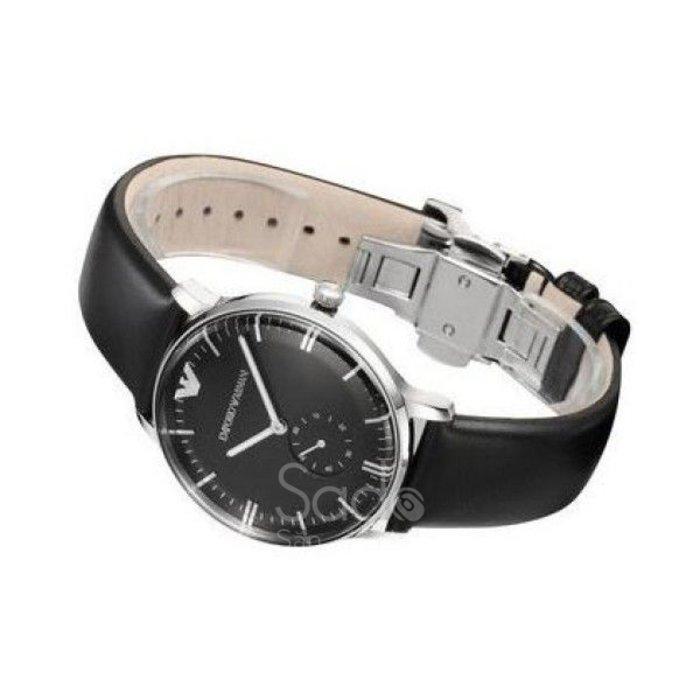 Đồng hồ Emporio Armani 3 kim dây da (Đen) AR0382