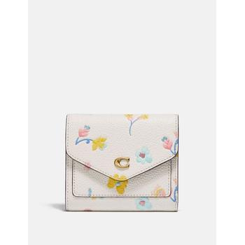 WYN SMALL WALLET WITH WATERCOLOR FLORAL PRINT