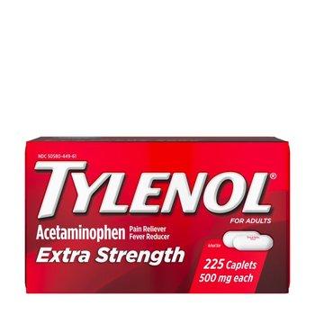 Giảm đau hạ sốt Tylenol Acetaminophen Extra Strength 500mg 225 Caplets