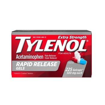 Giảm đau hạ sốt TYLENOL Extra Strength Rapid Release Gels with Acetaminophen, 225 ct